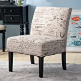 Merax Fabric Armless Contemporary Accent Chair Dining Chair Modern Living Room Furniture