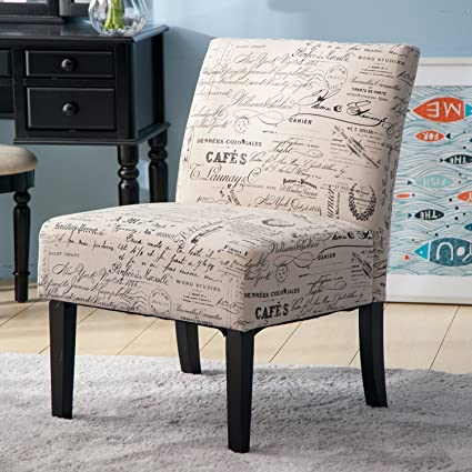 Amazon.com: Merax Fabric Armless Contemporary Accent Chair Dining ...