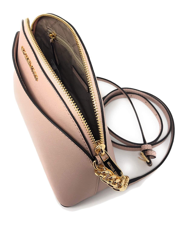 333dd026a37f Michael Kors Emmy Medium Leather Crossbody Bag in Ballet  Handbags   Amazon.com