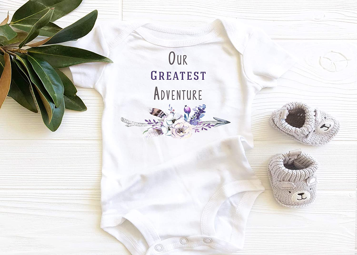Little Adventurer The Mountains Are Calling 6-12 Months Baby Bodysuit Baby Shower Present