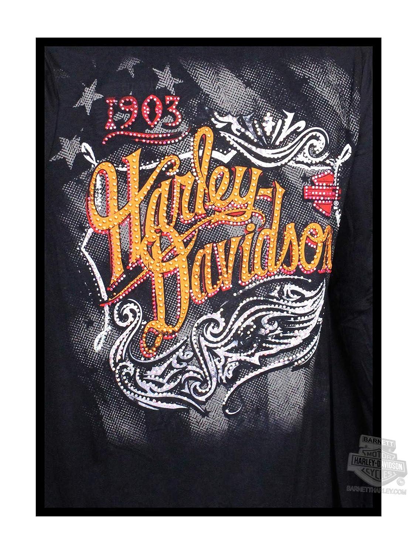 Harley-Davidson Womens Vintage Tribal Fringe Bottom Black Long Sleeve Cardigan by MJCK