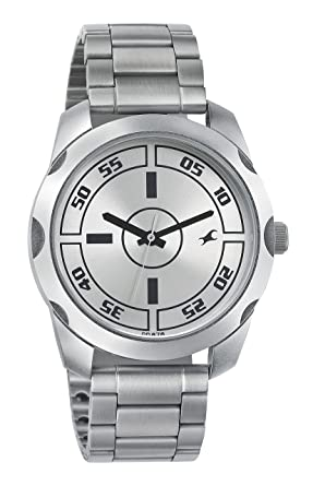 14b1e4da37c Image Unavailable. Image not available for. Colour  Fastrack Casual Analog  Silver Dial Men s Watch ...