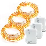 Kohree 3 Pack 10ft 60 LEDs Fairy String Lights, AA Battery Powered Decor Rope Lights For Seasonal Decorative Christmas Holiday, Wedding, Parties With Timer & Battery Box (Warm White)