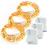 Amazon Price History for:Kohree 3 Pack 10ft 60 LEDs Christmas String Lights, AA Battery Powered Decor Rope Lights For Seasonal Decorative Christmas Holiday, Wedding, Parties With Timer & Battery Box (Warm White)