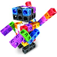 Learning Resources MathLink Cube Big Builder, 200 Pieces