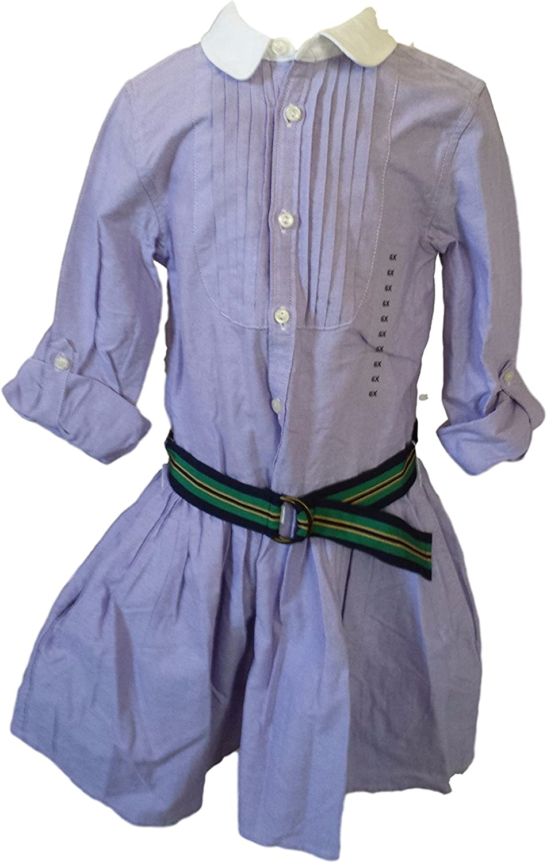 Ralph Lauren Polo Oxford Vestido de Camisa y cinturón de grogrén ...