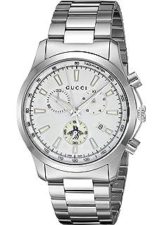 25c9d568381 Gucci Swiss Quartz Stainless Steel Dress Silver-Toned Men s Watch(Model   YA126472)