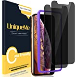 [2 Pack] UniqueMe Compatible for iPhone 11 Pro Max/XS Max 6.5 inch Anti Spy Privacy Screen Protector, [Easy Installation Fram