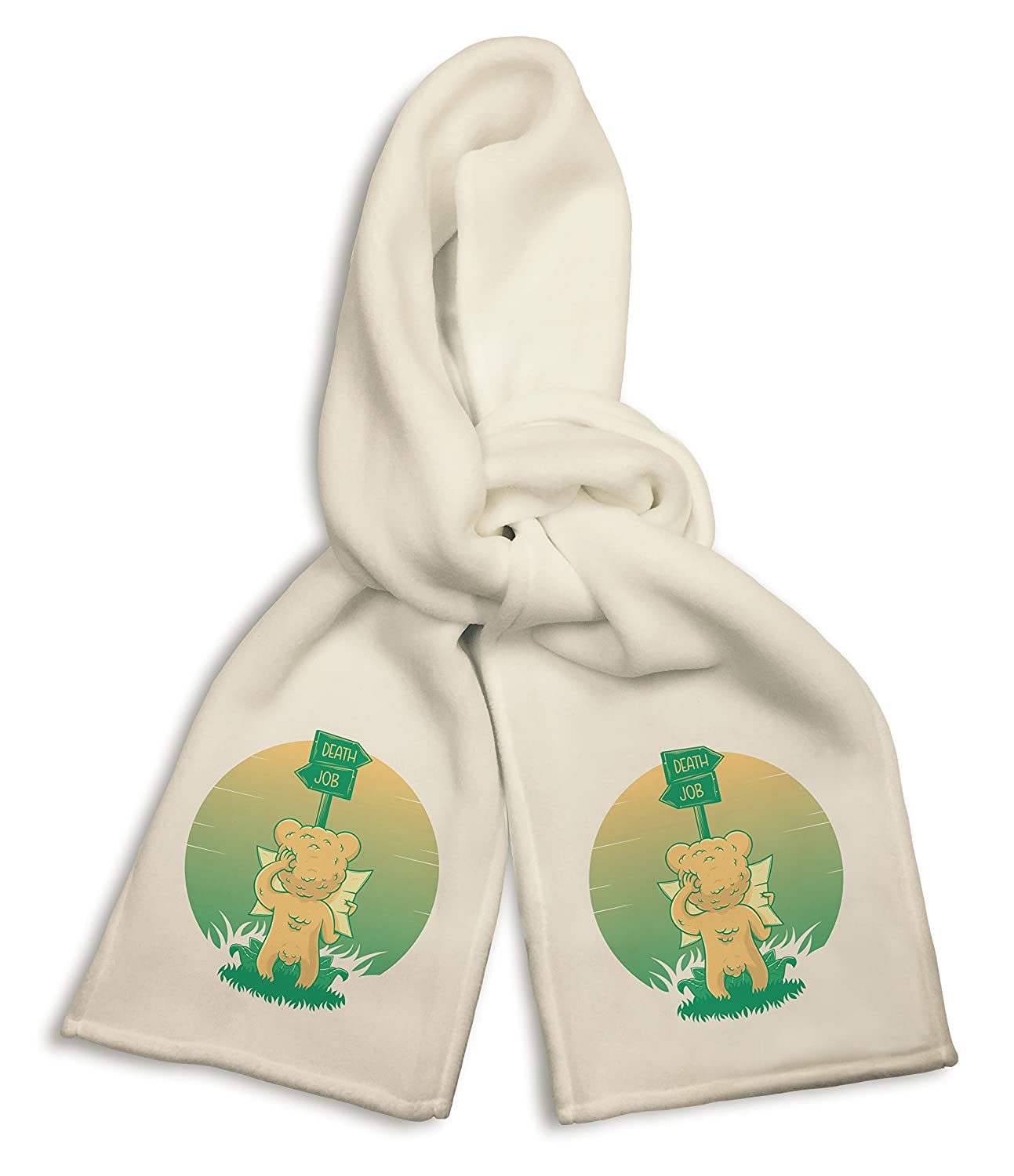 White Winter Scarf Roads of Life