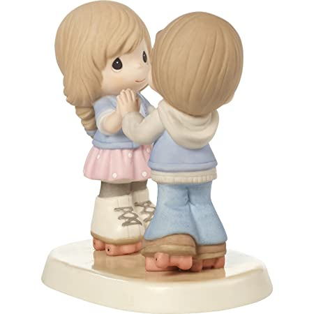 Precious Moments 179020 So Happy You Rolled Into My Life Roller Skating Couple Bisque Porcelain Figurine