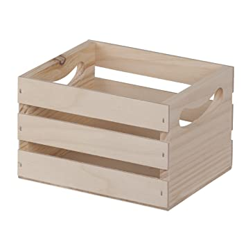 amazoncom mini wooden crate whandles 65x53x425 arts crafts sewing - Small Wooden Crates