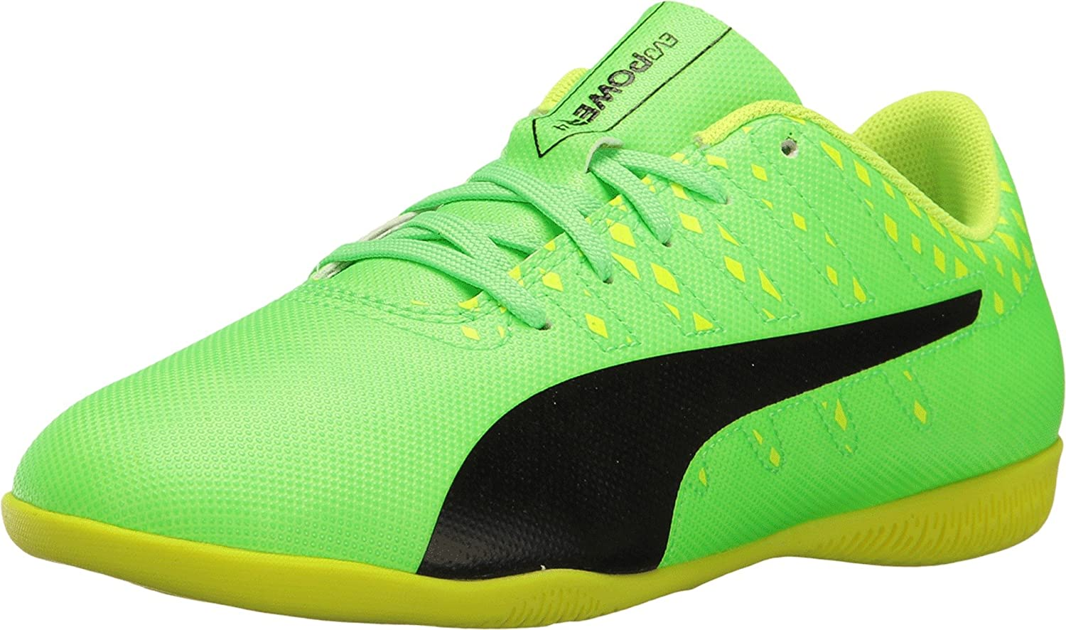 55178fcf004 Puma Kids Unisex Evopower Vigor 4 IT Jr Soccer (Little Kid Big Kid) Green  Gecko Puma Black Safety Yellow Oxford  Buy Online at Low Prices in India -  Amazon. ...