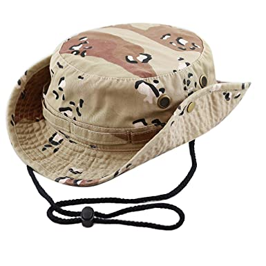 8e3b71f9a99 Seunota Military Army Tactical Bonnie Hat Hunting Hat Round-Brimmed Sun  Bonnet Hat Outdoor Camping