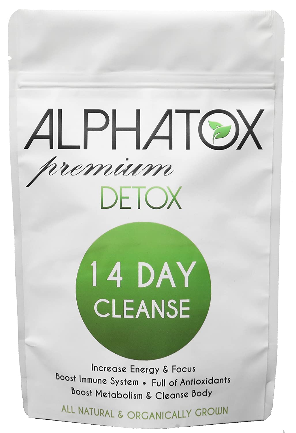 Alphatox 14 Day Premium Detox Tea Cycle | Helps Lose Weight Naturally, Full of Anti-oxidants | 14 Herbal Tea Bags | Organic Tea