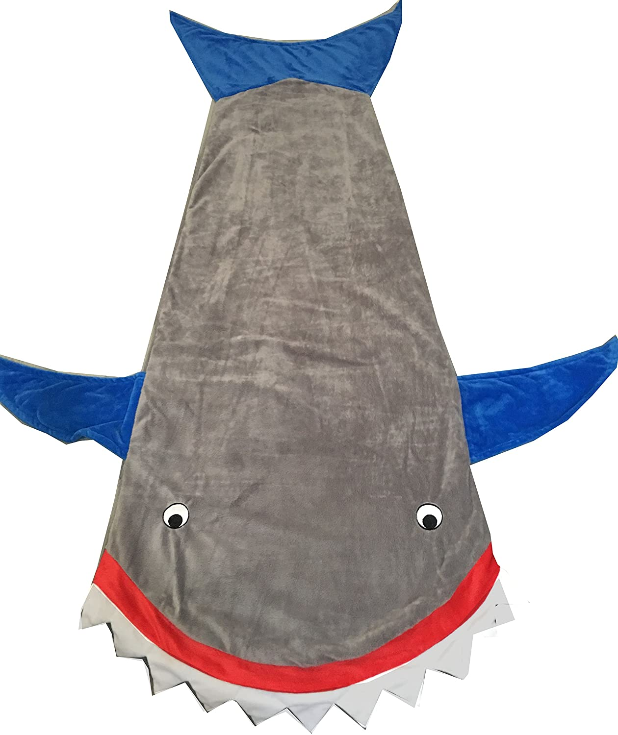GSJammies Shark Blanket Warm Cozy Sleeping Bag Gift For Kids (Gray) Daomin
