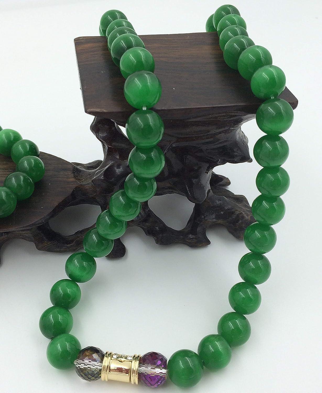 Arain Womens Jewelry Sets Stone Chatoyant Cats Eye Stone Cymophane Beads Round Loose Bead Opals Party Fashion Jewelry