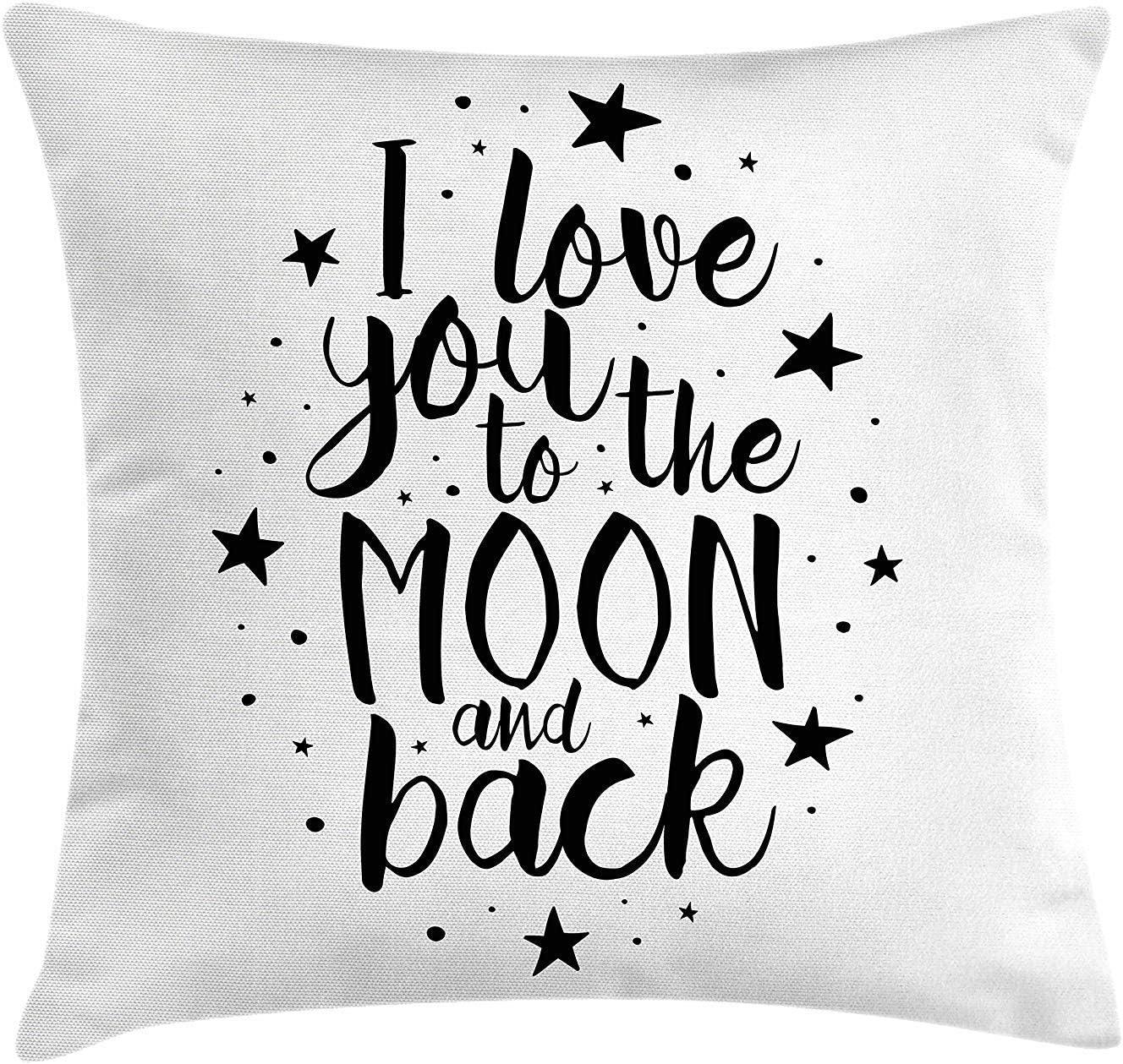 Funda de cojín Romántico te Amo a la Luna y Volver Cita ...