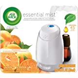 Air Wick Essential Oils Diffuser Mist Starter Kit (Vaporizer for essential oil + 1 Refill), Mandarin & Sweet Tangerine, Air Freshener