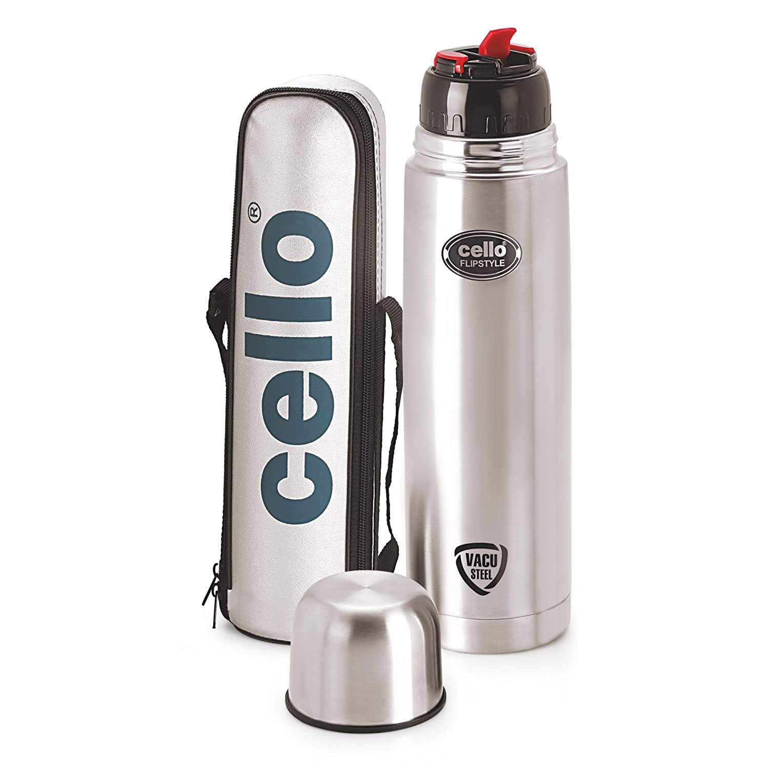 Cello Flip Style Stainless Steel Flask
