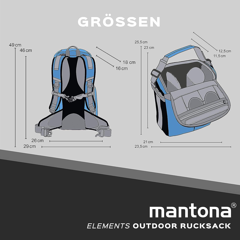 Mantona Elements zaino outdoor con Custodia estraibile per fotocamera DSLR con parapioggia//scomparto laptop//treppiedi