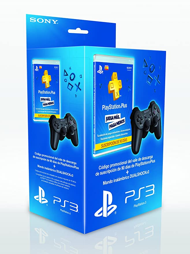 Sony PlayStation 3 - Pack Dual Shock 3 + Tarjeta PSN+ De 90 ...