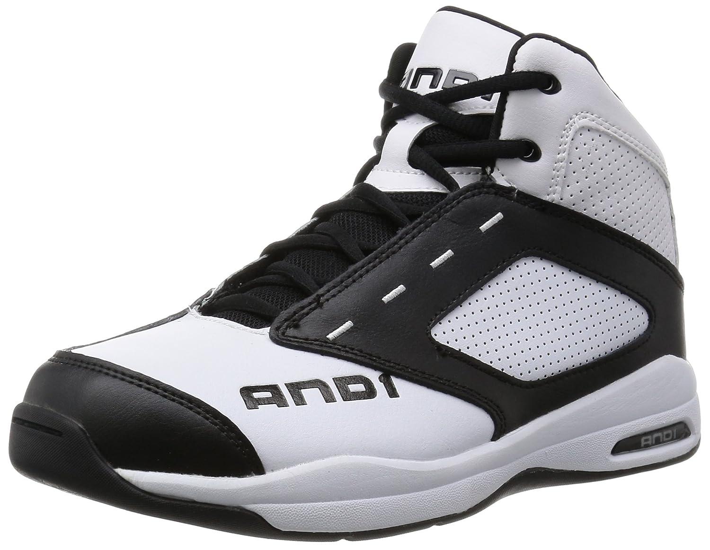 [アンドワン] AND-1 バスケットシューズ B0125H8034 12.0(300)(30cm) 2E Bright White/Stretch Limo/Bright White