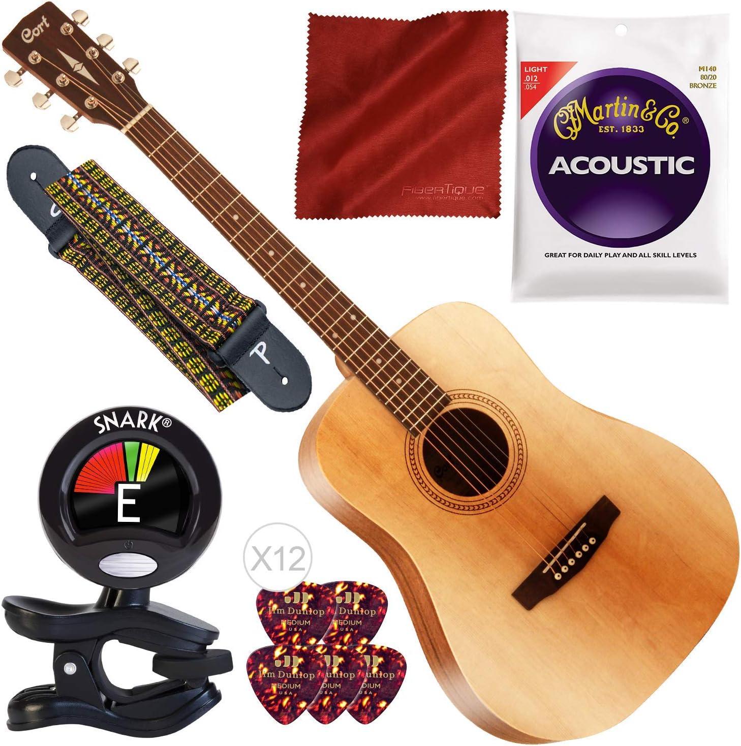 Cort Standard/EasyPlay Series AF505 Guitarra acústica de 6 cuerdas ...