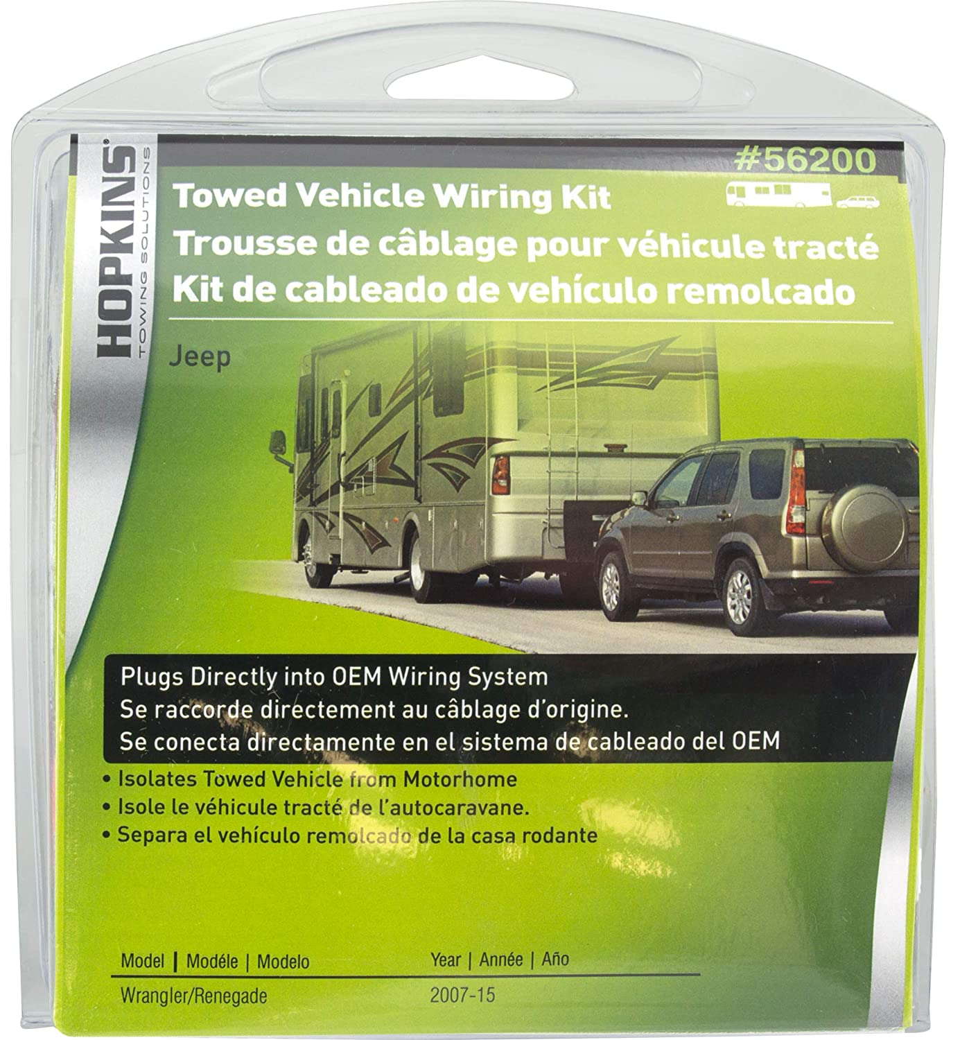 amazon com: hopkins 56200 plug-in simple towed vehicle wiring kit:  automotive
