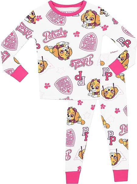 Girls Pyjamas Paw Patrol Pjs Puppy Dog Cotton Skye Marshall 18 Months to 5 Years