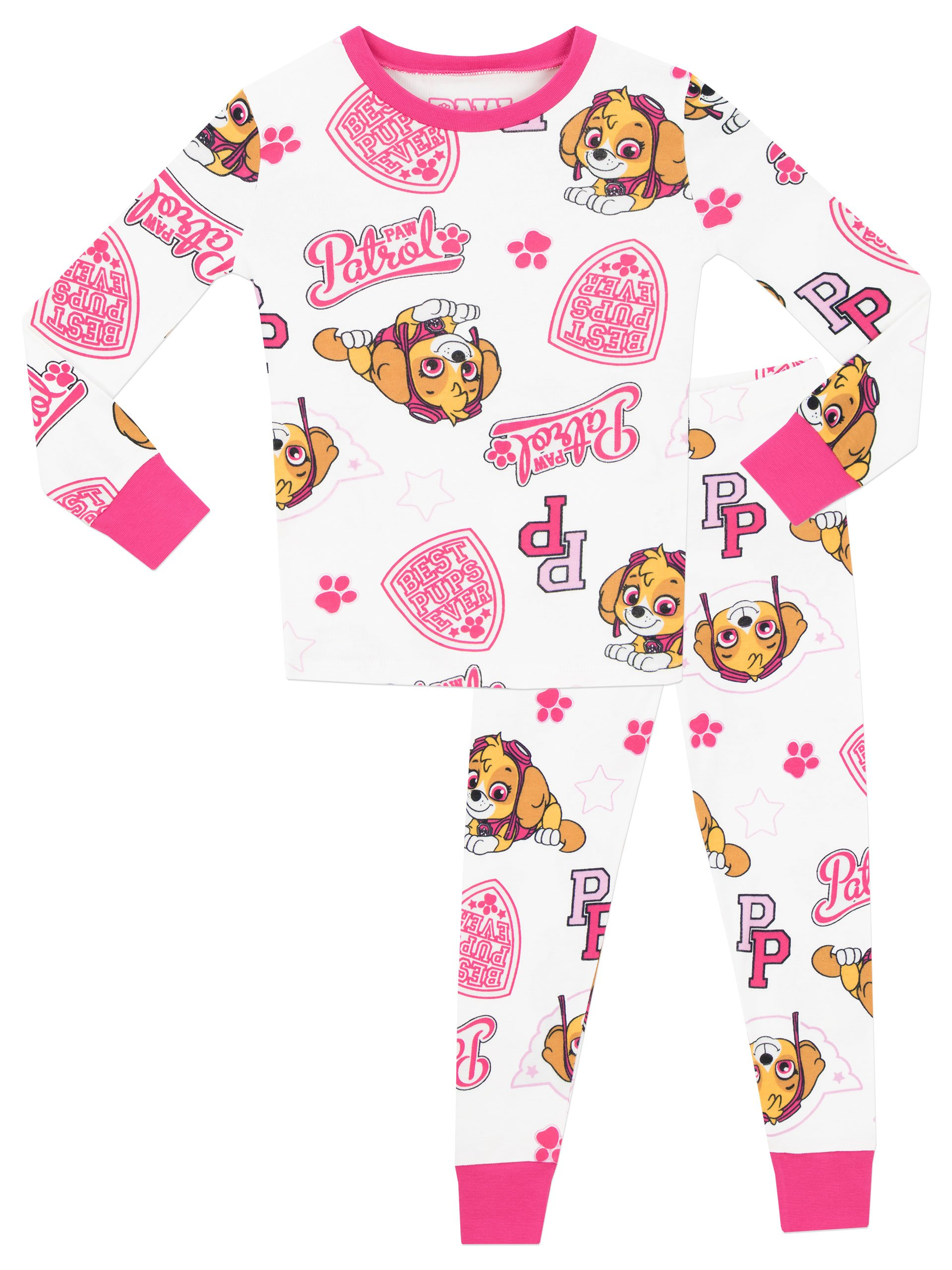 Girls Baby KIds Paw Patrol SKYE Best Pup Ever long sleeved pyjamas