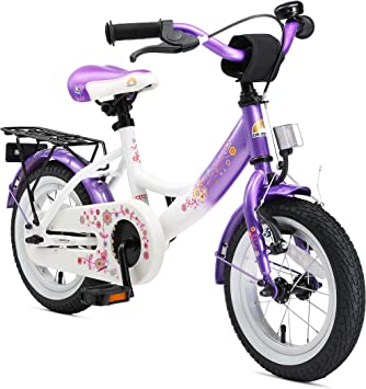 Bikestar | Bicicleta Infantil 12 Pulgadas | Color Lila & Blanco ...