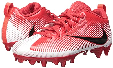 NIKE Men's Vapor Strike 5 TD Football Cleat University Red/White/Crimson/ Black