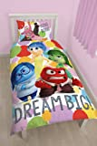 Character World Disney Inside Out Emotion Set di biancheria da letto, Multicolore