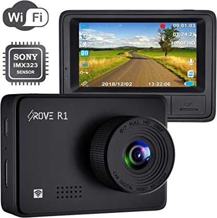 GPS Player Parking G-Sensor Rove M3 Streaming Mirror Dashboard Camera Motion Detection FHD 1080p Front and Rear View 9.66 Inch Touch Screen Monitor Dual Lens Dash Cam with Built in Backup Camera