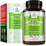 Apple Cider Vinegar - 180 Capsules - 1000mg Daily Dosage - Premium Quality Supplement - 90 Day Supply - Vegan Friendly – Made in The UK by Nutravita