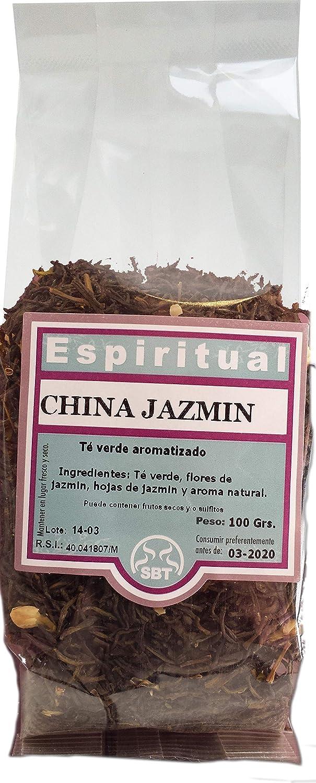 SABOREATE Y CAFE THE FLAVOUR SHOP Té Verde en hebra China Jazmín con Flores de jazmín y Aroma Natural 100 Gramos: Amazon.es: Alimentación y bebidas