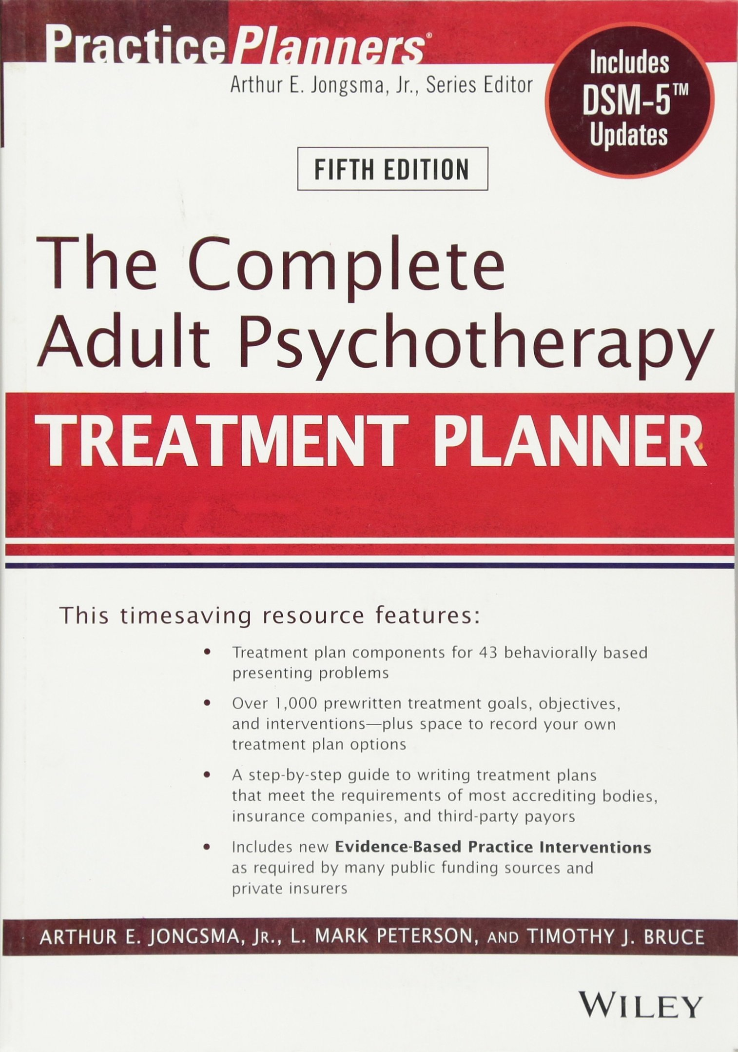 The Complete Adult Psychotherapy Treatment Planner: Includes DSM-5 Updates by Wiley