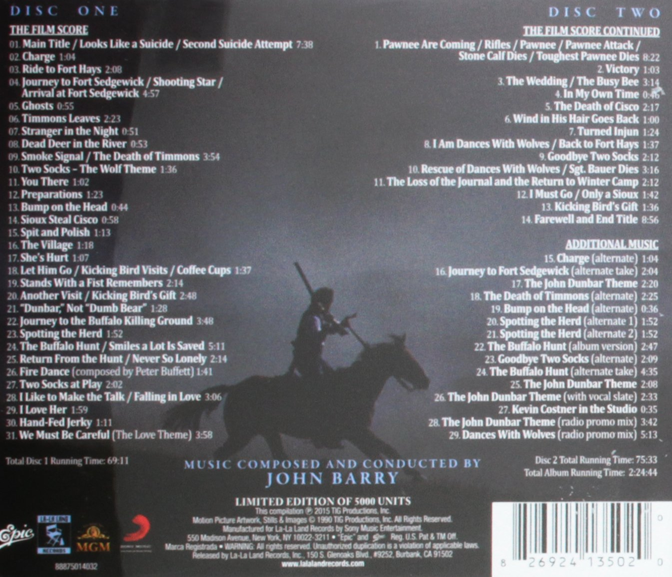 Dances With Wolves: 25th Anniversary Expanded Edition - 2 CD