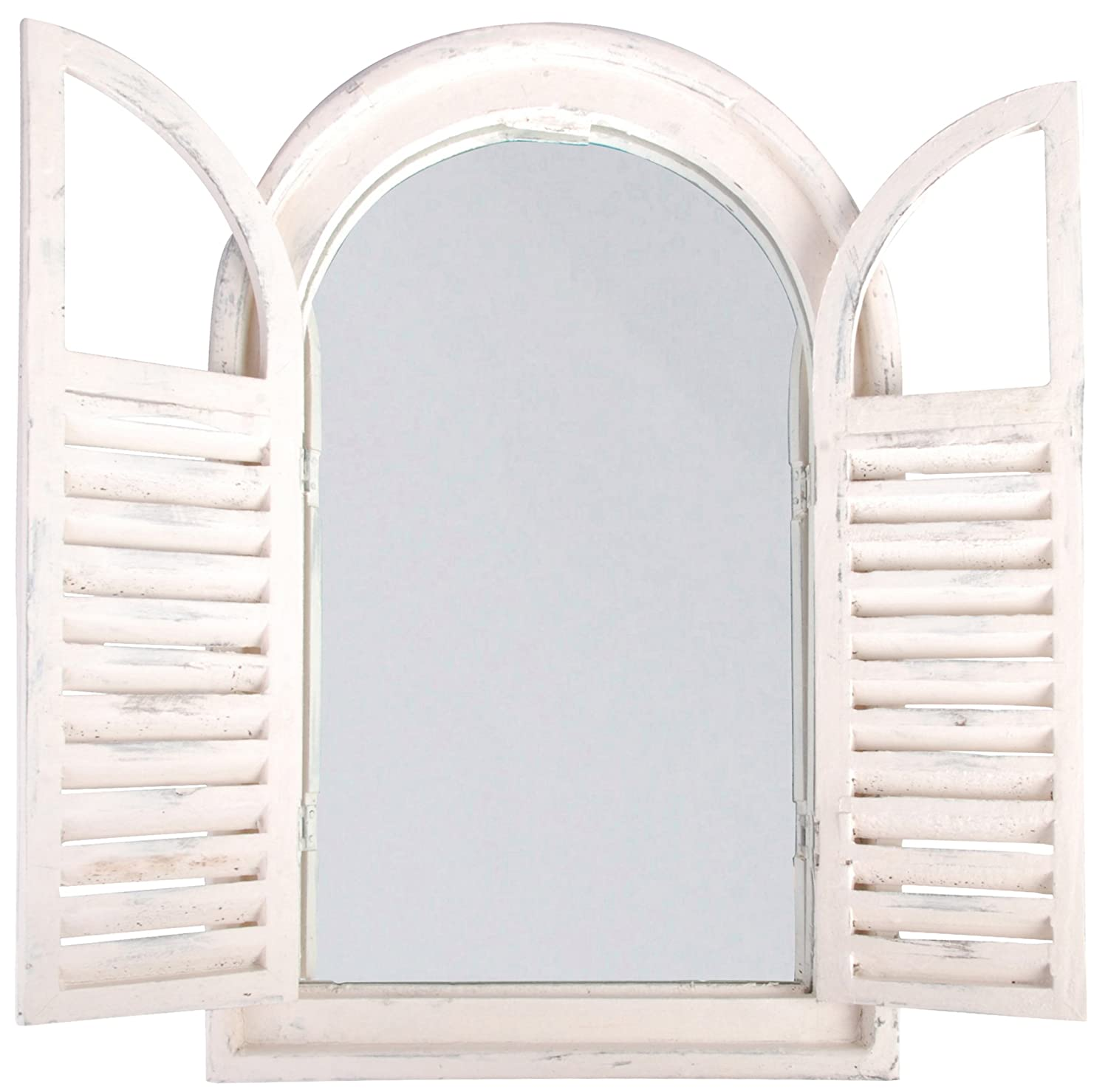 White window frame - Amazoncom Esschert Design White Window Frame Wfrench Doors Single Frames Patio Lawn U0026 Garden