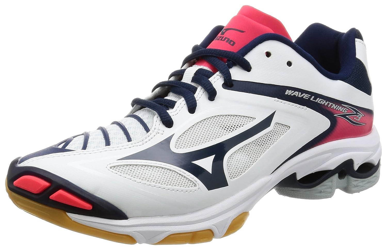 [ミズノ] バレーボールシューズ ウエーブ ライトニング Z3 (旧モデル) B01N8WV3L0 25.5 cm|ホワイト/ネイビー/ピンク ホワイト/ネイビー/ピンク 25.5 cm