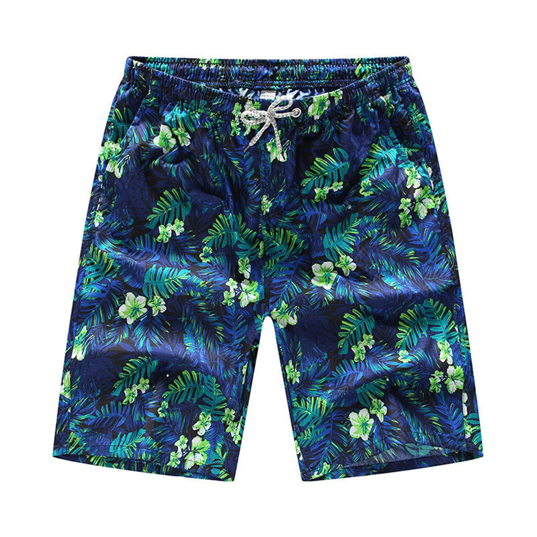 COOCOl 2 Pieces Summer Shorts Men's Loose Shorts Casual Board Shorts Cotton Lov