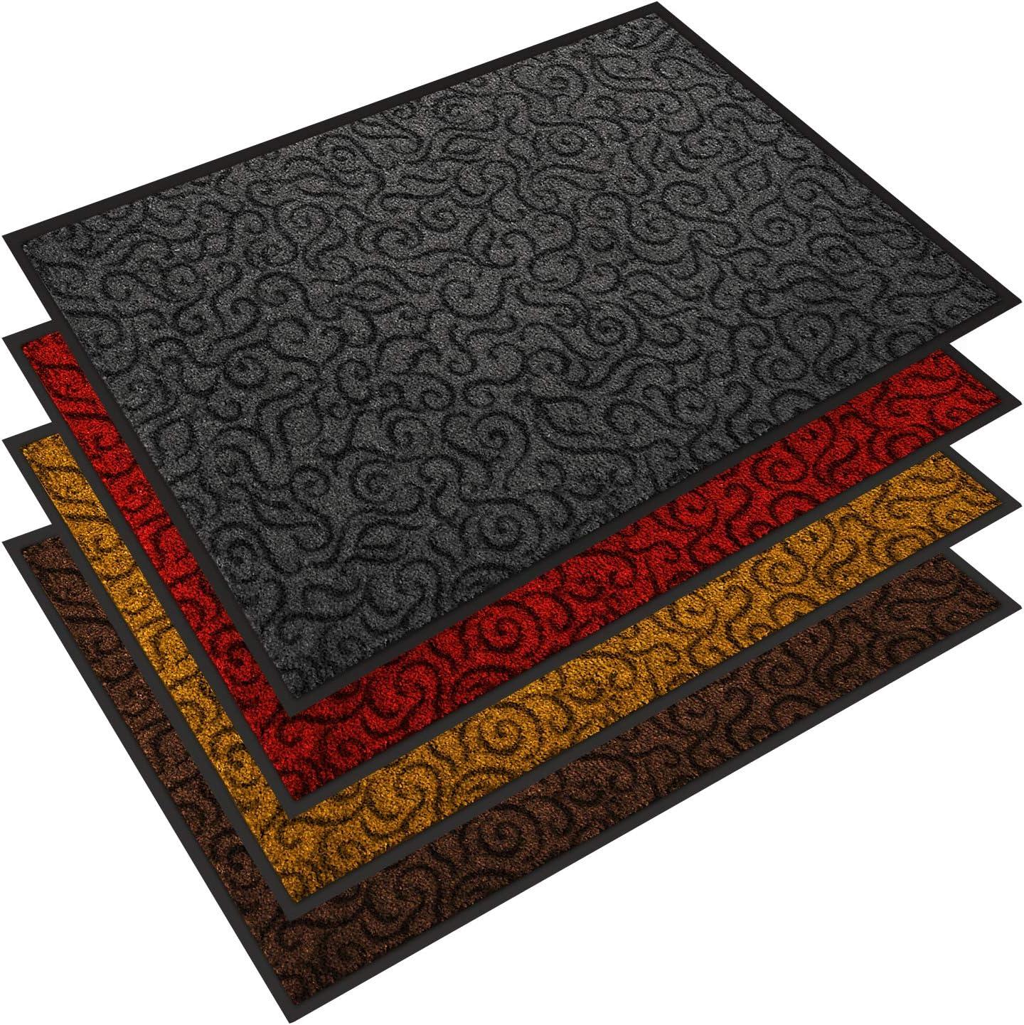 Design Eingangsmatte Bodenmatte Fußmatte Schmutzfangmatte 45x75x0,5 cm NEU TOP