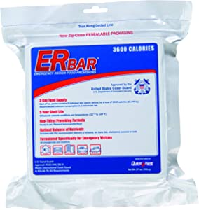 ER Emergency Ration 3600 Calorie Food Bar for Survival Kits and Disaster Preparedness, Single Bar, 1B