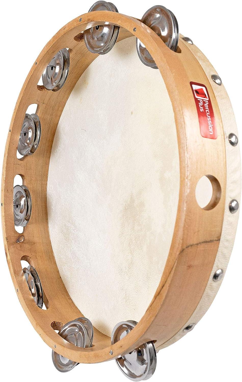Percussion Plus 10 inch 8 Jingle Tambourine