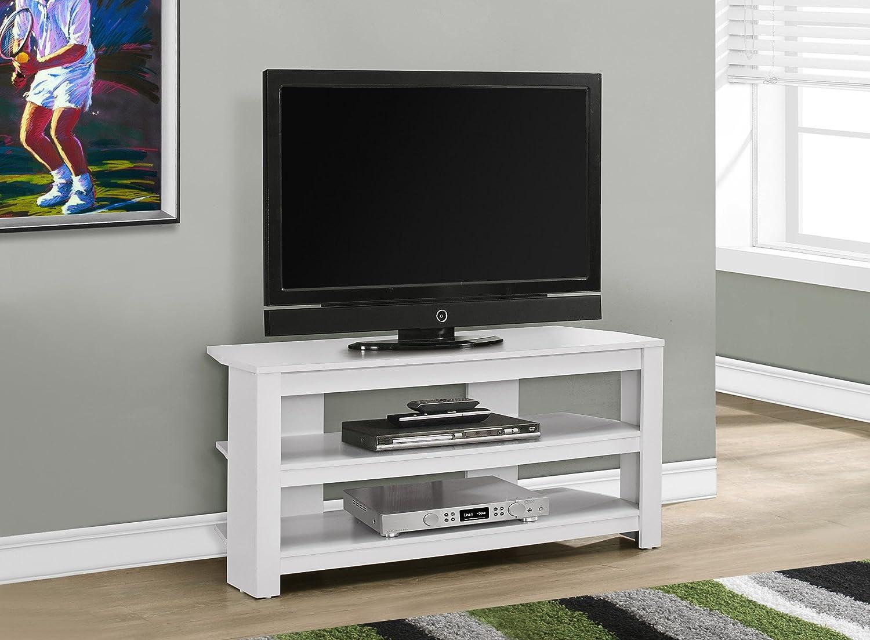 FurnitureMaxx Soporte de TV esquinero Blanco de 42 Pulgadas de ...
