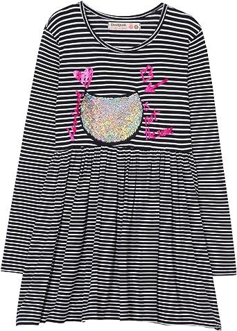 Desigual Vest_Monrovia Vestido para Niñas: Amazon.es: Ropa y