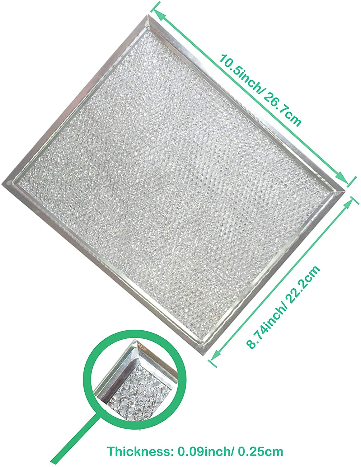 10.5 x 8.75 Inch Alum Amazinpure Broan Nutone NY NV ORIGINAL PART#S97006931 vent grease filter Compatible with Broan hotpoint BP29 range hood filter 97006931 Kenmore exhaust fan filter 1172137 5-3078 88150 99010121 C88150 K758900 10-1//2 x 8-3//4 x 3//32