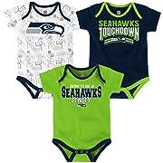 NFL Infant Playmaker 3 Piece Onesie Set-Dark Navy-12 Months cd8695d65