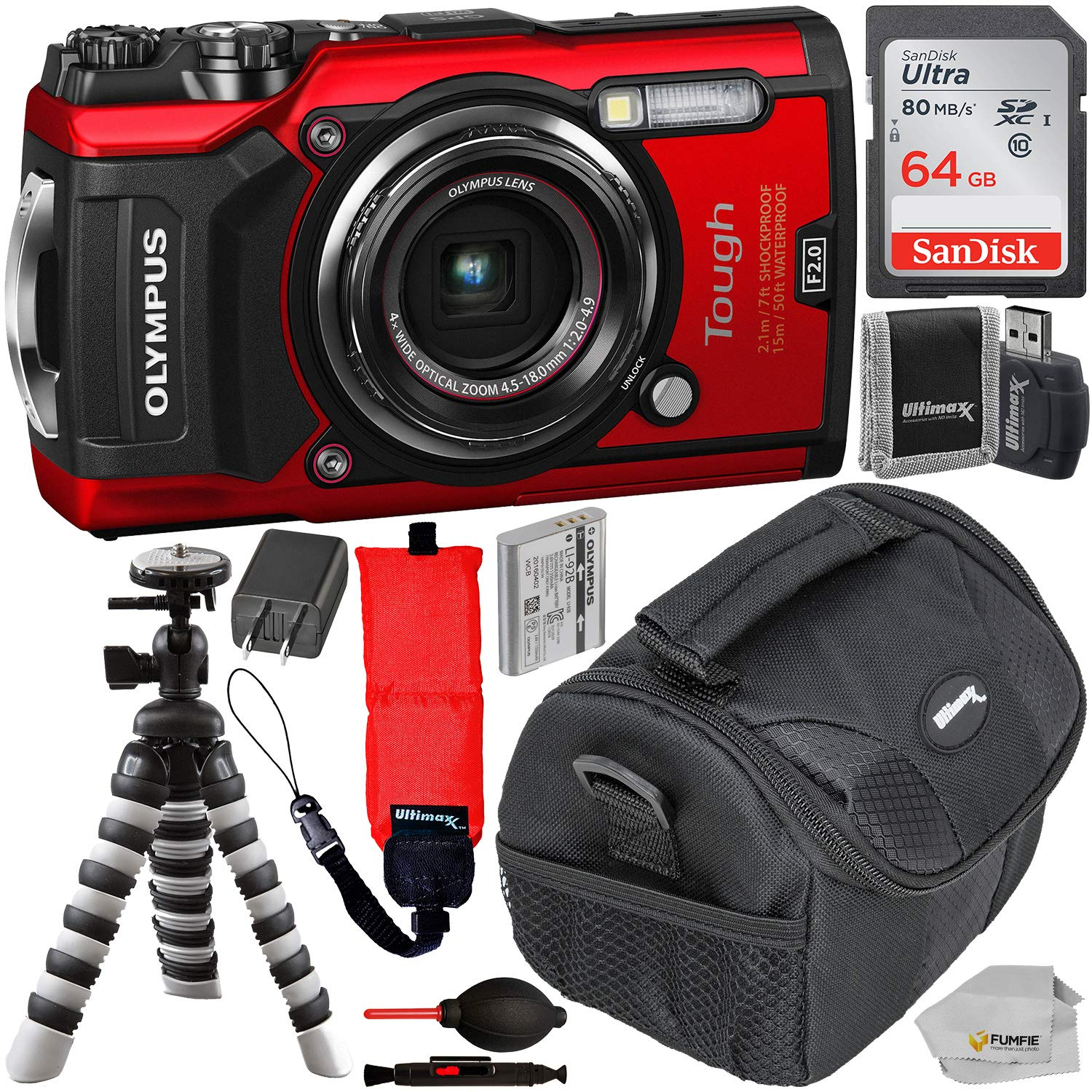 Olympus Digital Camera 5 Amazon.com : Olympus Waterproof Tough TG-5 Digital Camera (Red) with  SanDisk Ultra 64GB SDXC UHS-I Memory Card, Floating Wrist Strap, More :  Camera u0026 Photo