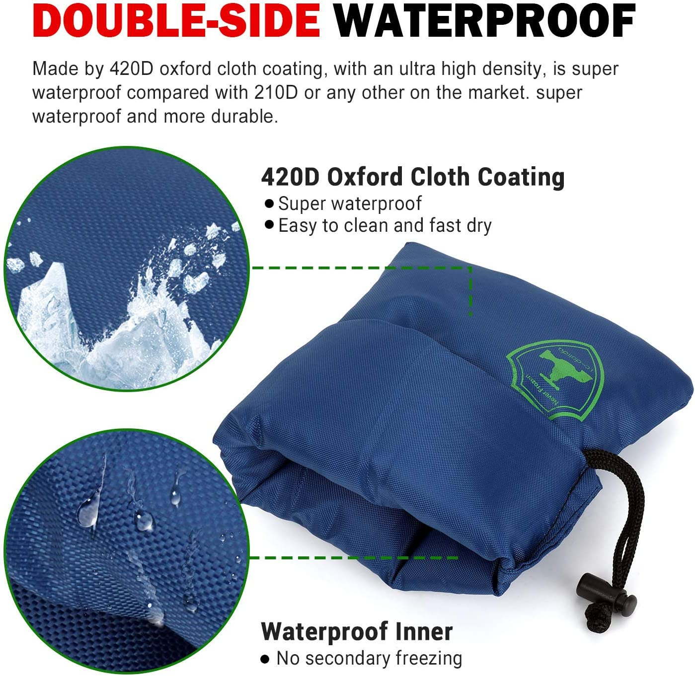 Outdoor Faucet Cover, 2-Pack Pro Super Insulate & Waterproof Unisize Outside Faucet Covering Socks for Winter Freeze Protection (Blue): Home Improvement